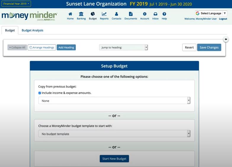 MoneyMinder Software - MoneyMinder budgeting