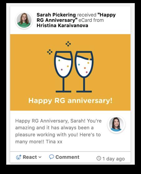Reward Gateway screenshot: Reward Gateway eCard screenshot
