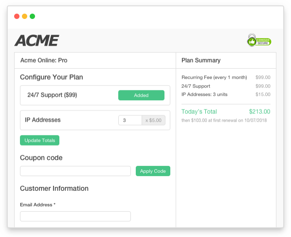 Create a customized sign up experience for new subscribers
