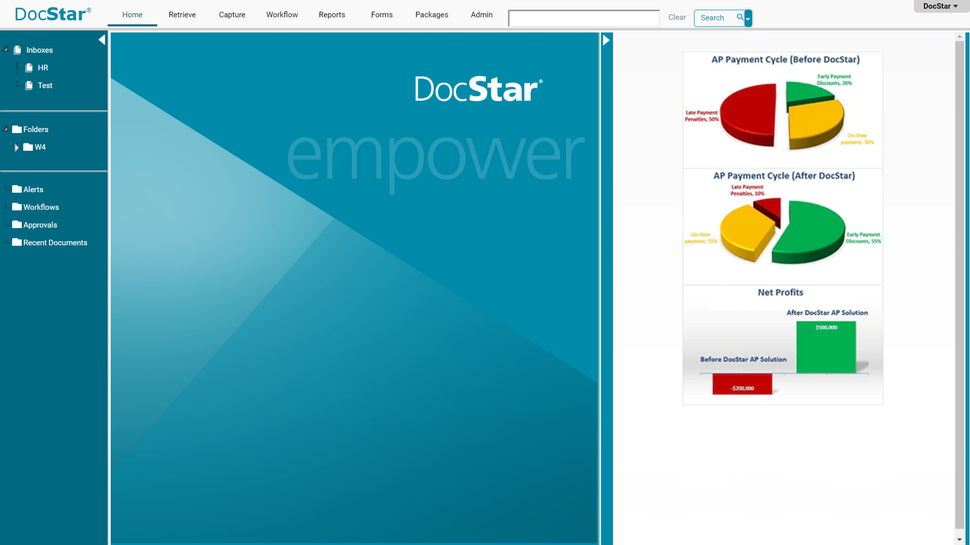 DocStar ECM homepage