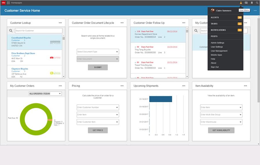 Infor CloudSuite Industrial (SyteLine) - Customer service homepage