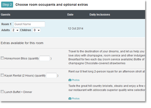 Choose rooms
