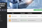 Communication Centers screenshot: Communication Centers contact management