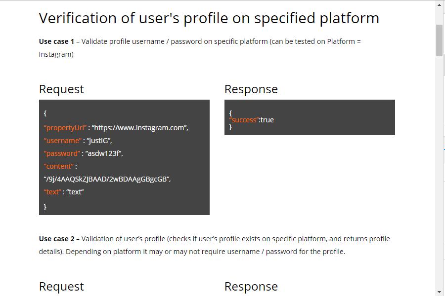 justLikeAPI screenshot: justLikeAPI user profile verification