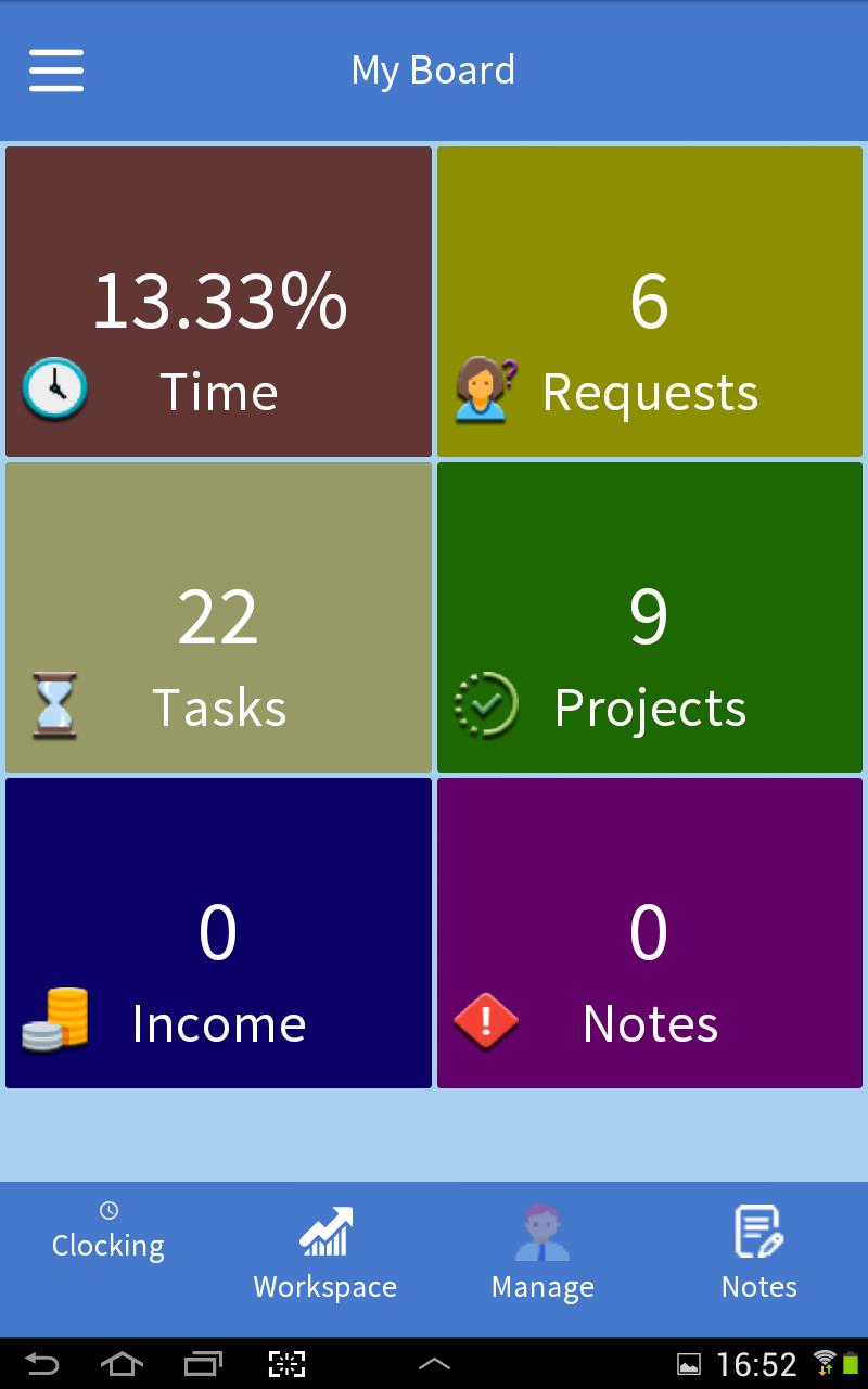 FinClock metrics screenshot