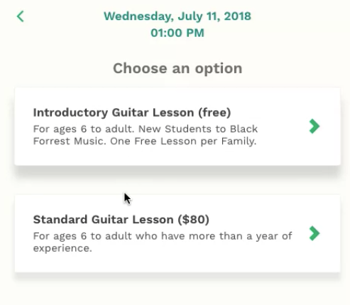"""Customizable appointment types and prices, including """"no-cost"""" sessions"""