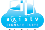 Capture d'écran pour AxisTV Signage Suite : Our enterprise-class solution for cloud-based digital signage gives you all the features of our premise-based solution, with a smaller initial purchase and fewer maintenance responsibilities.