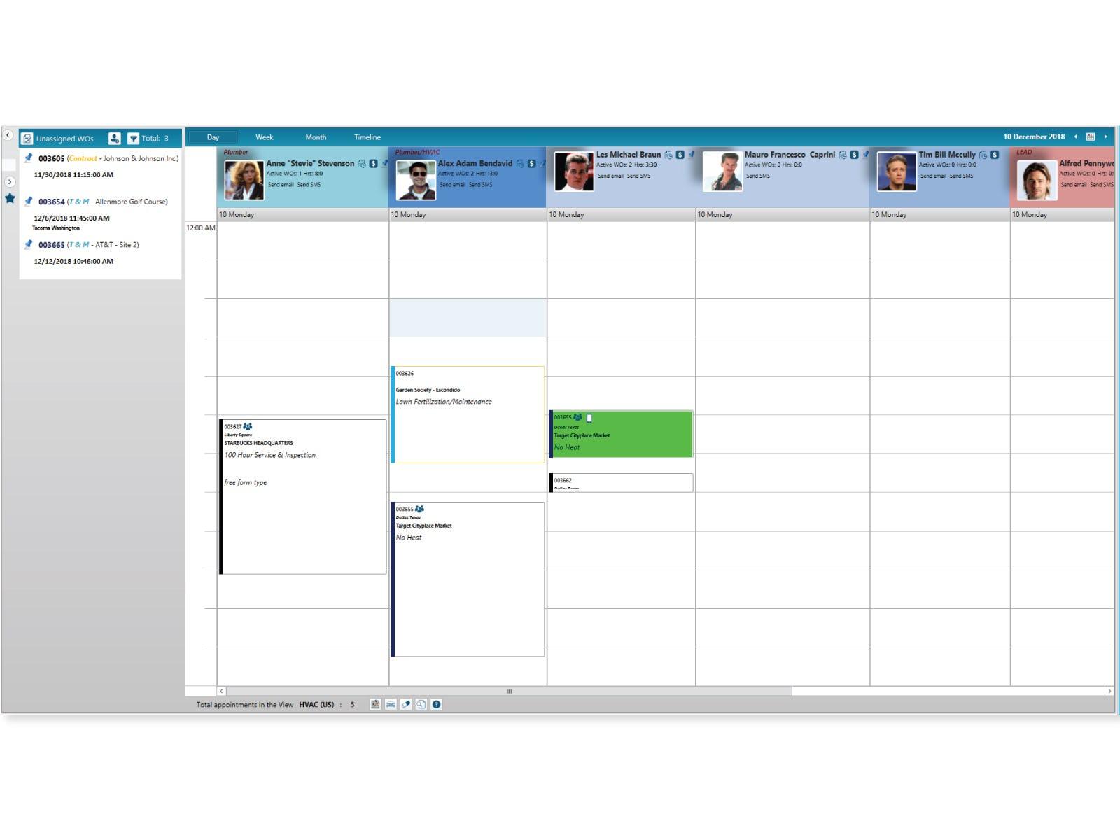 Jonas Enterprise Software - Jonas Enterprise calendar