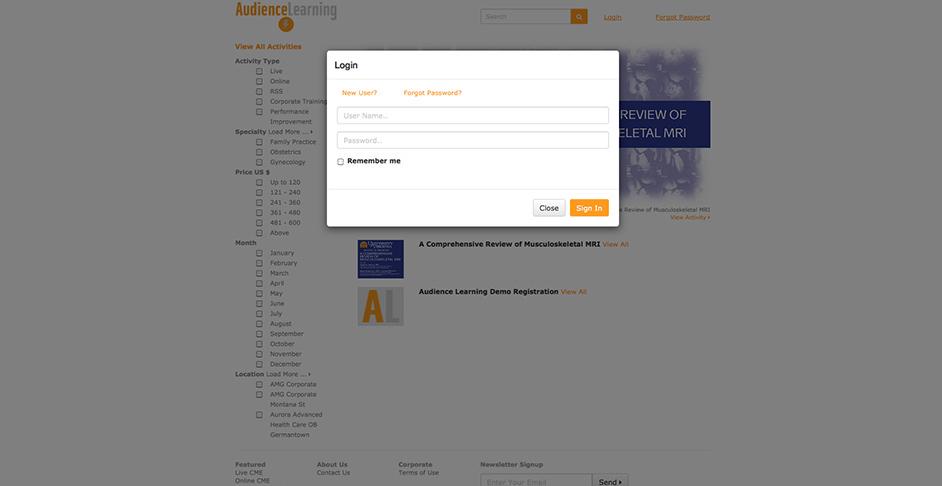 Learning login