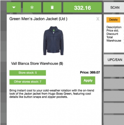 Stock levels across all store locations can be viewed in real-time