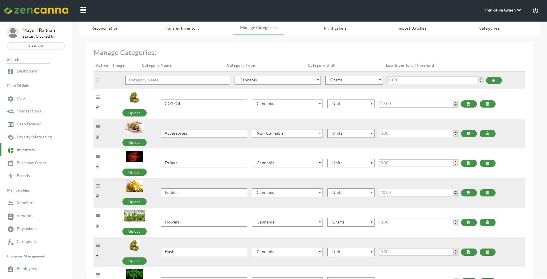 Zencanna inventory management