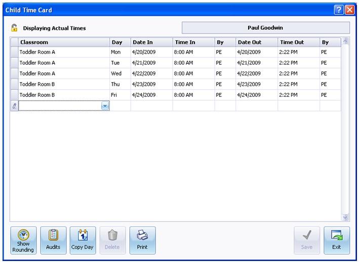 Procare attendance tracker