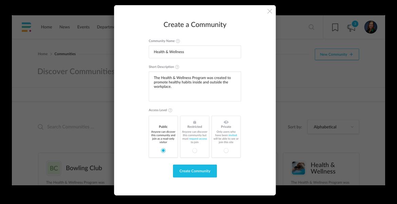 Create communities