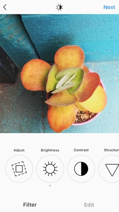 A range of filters and editing tools are built into Instagram