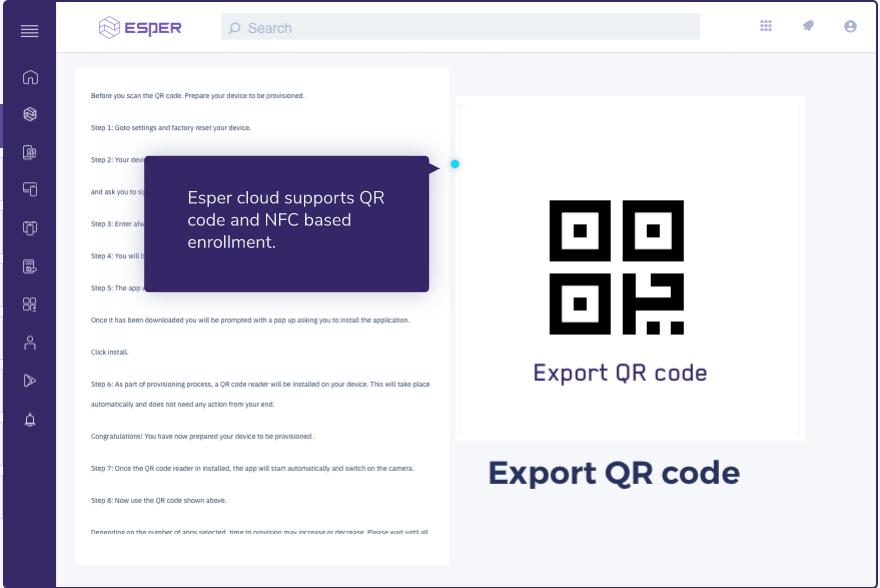 QR code export