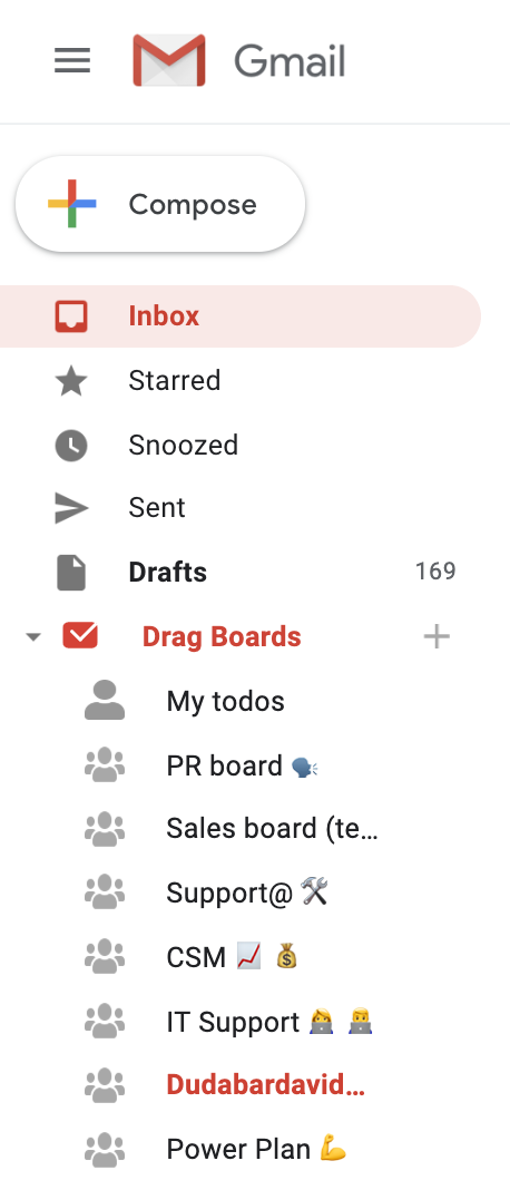 Drag boards screenshot