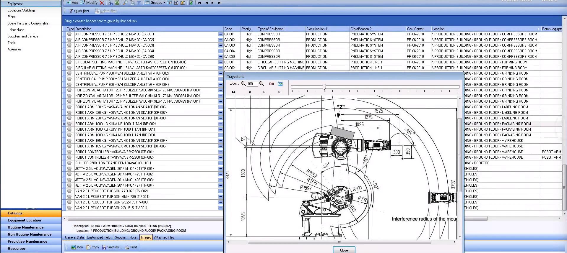 MPSoftware equipment catalogs