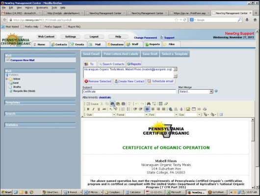An integrated document and e-mail editor, along with Outlook/Exchange integration, aids communications
