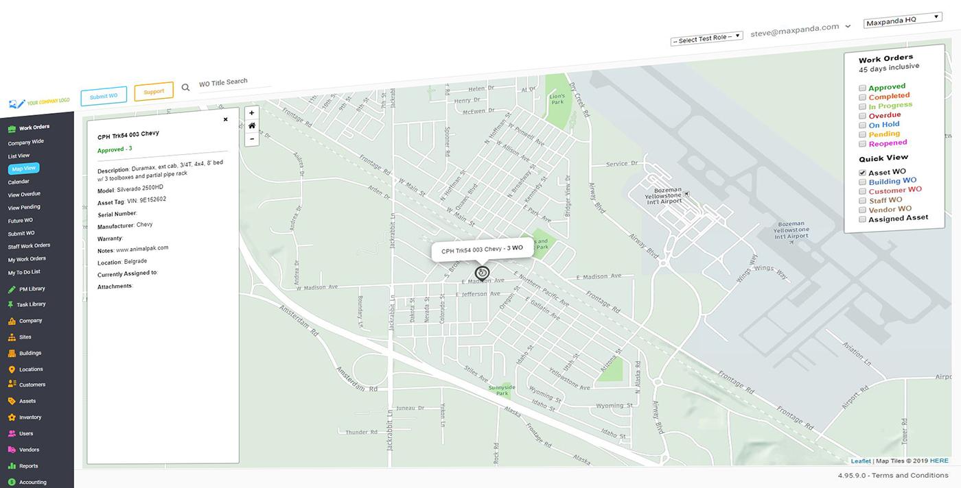 Maxpanda map view