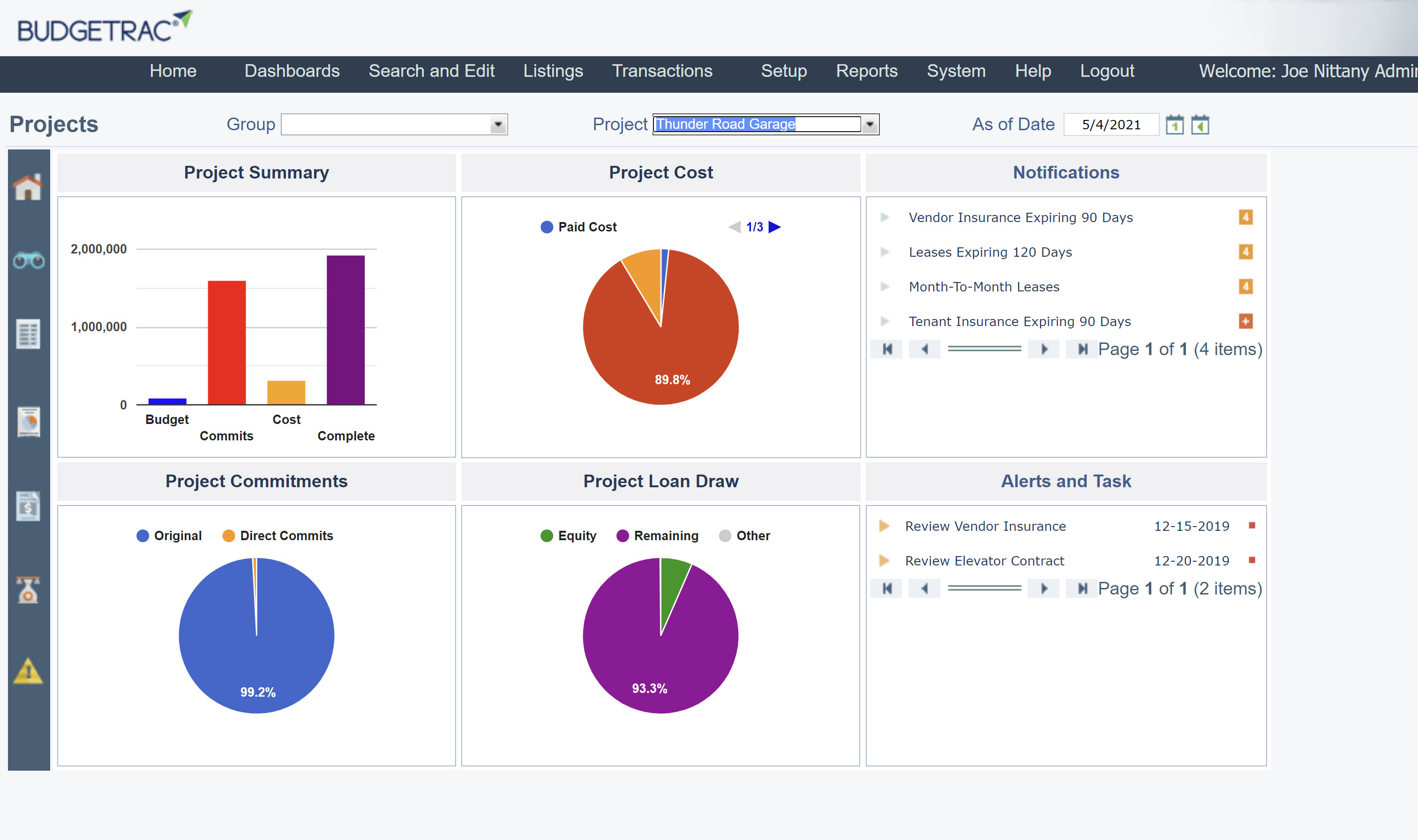 Dashboard with Reporting, AP Review/Approval, Budget Changes