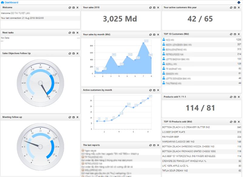 AtemisCloud Software - SalesPeople Dashboard
