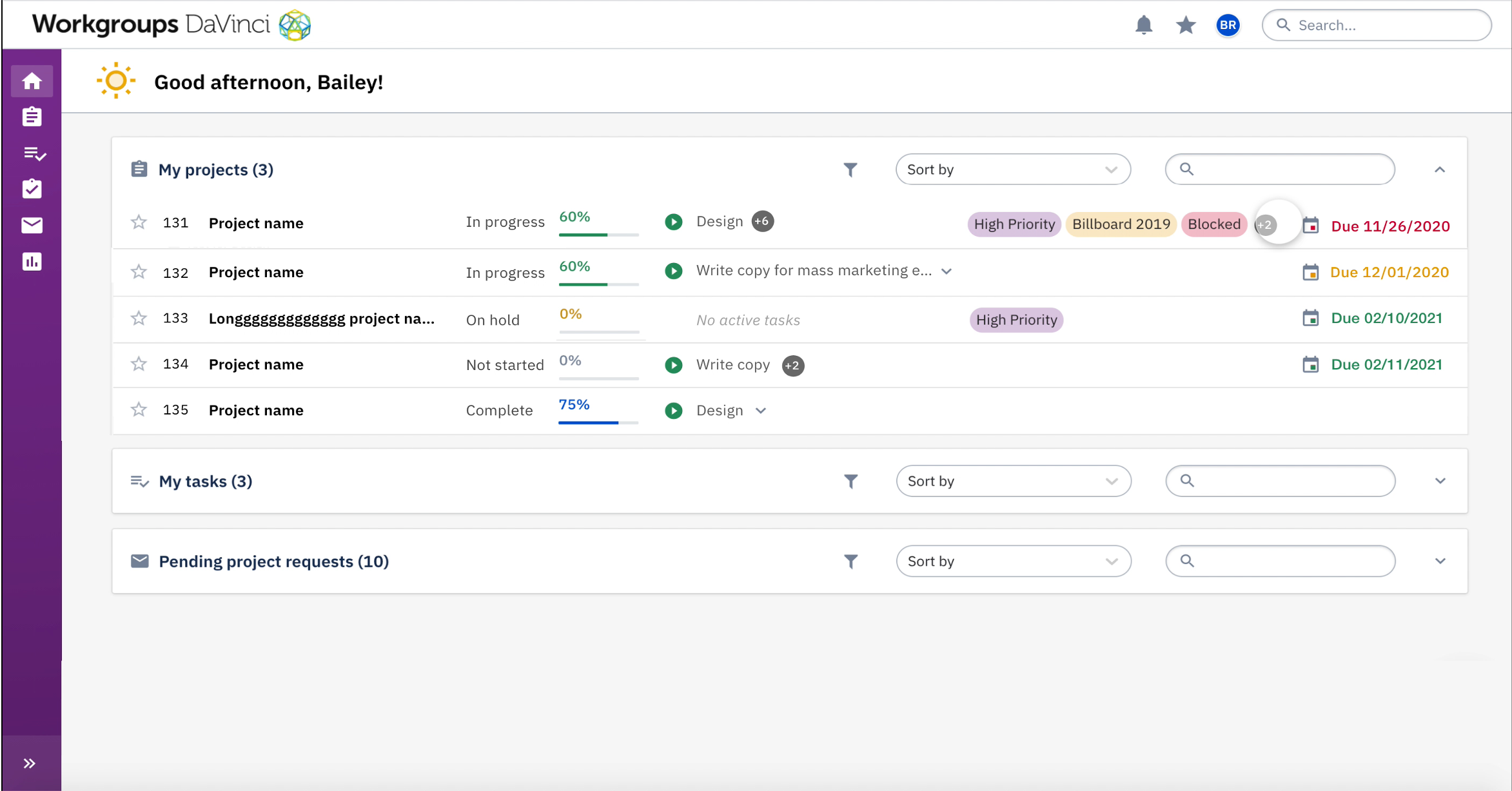 Stay organized and keep track of your team's work in a single view