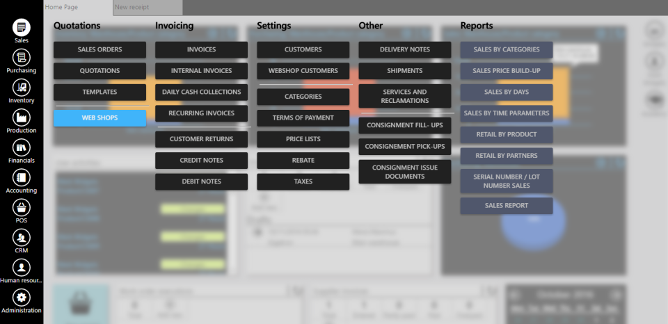 ERPAG Software - Dashboard