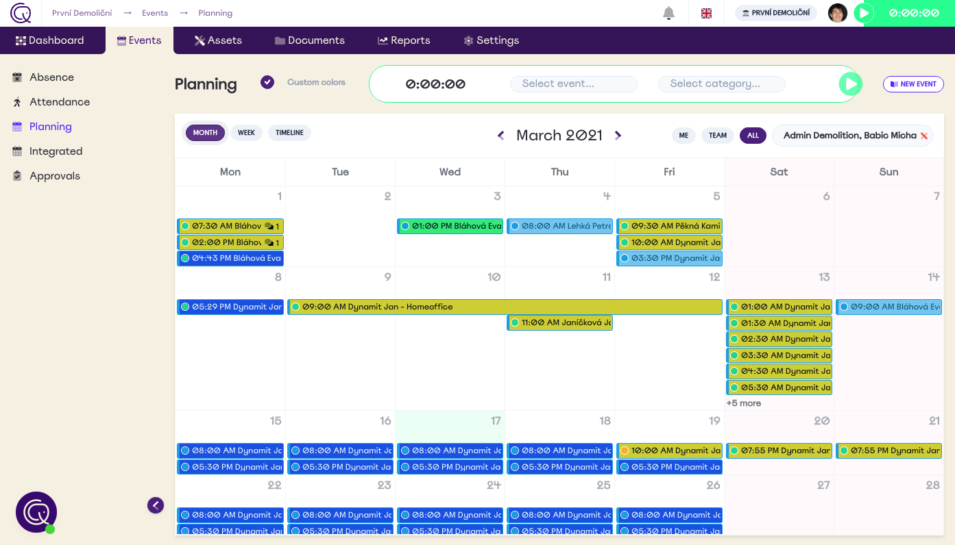 Planning & Time tracking