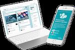 Plek screenshot: Plek connects people across teams, departments and organizational boundaries. On any device!