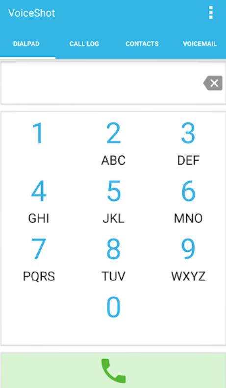 VoiceShot dial pad