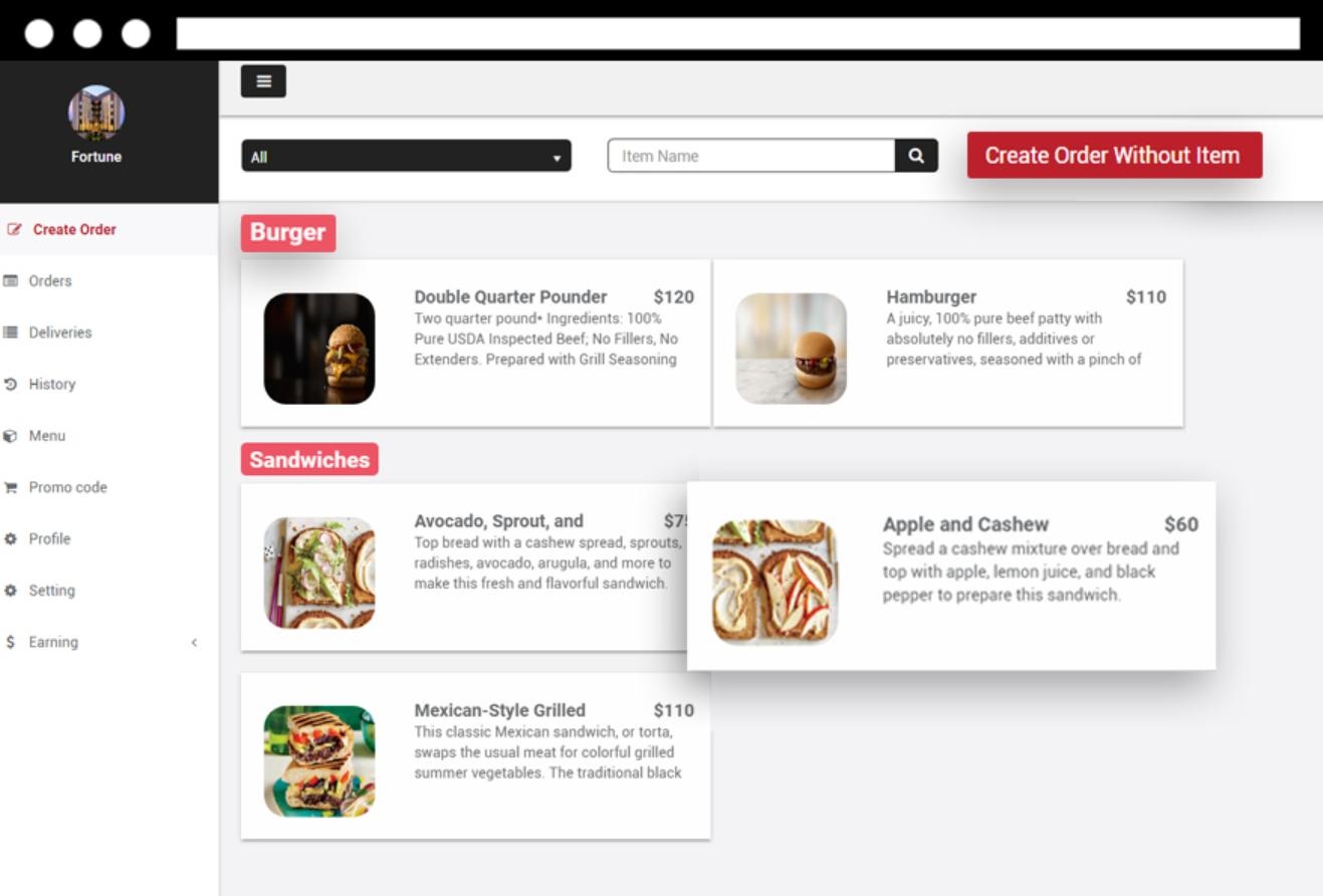 E-Delivery create order