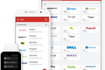 Schermopname van LastPass: LastPass can be accessed from any device and users can link their business and personal accounts