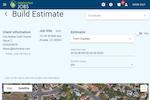TreePlotter JOBS screenshot: TreePlotter JOBS estimate builder