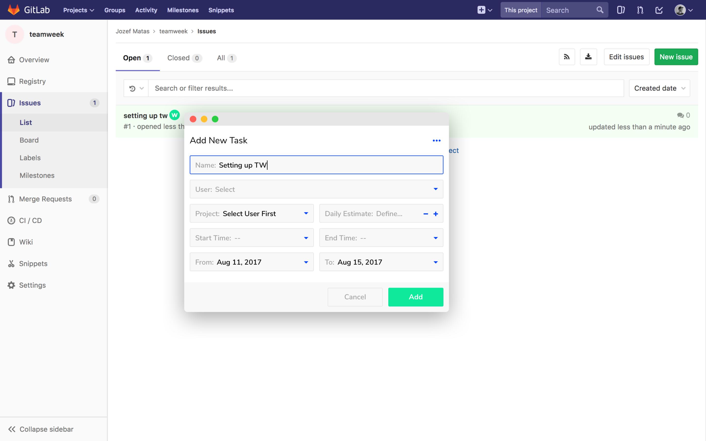 Toggl Plan add tasks