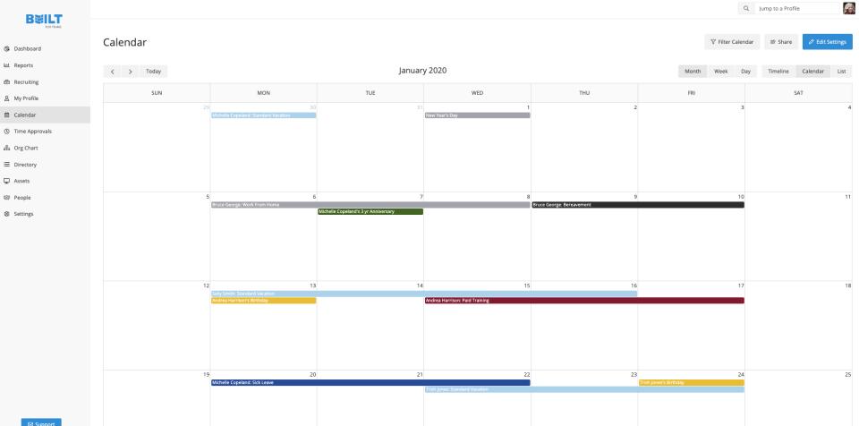 Customized Calendar