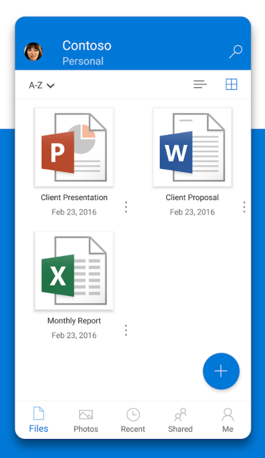 OneDrive Software - Organize files on mobile devices