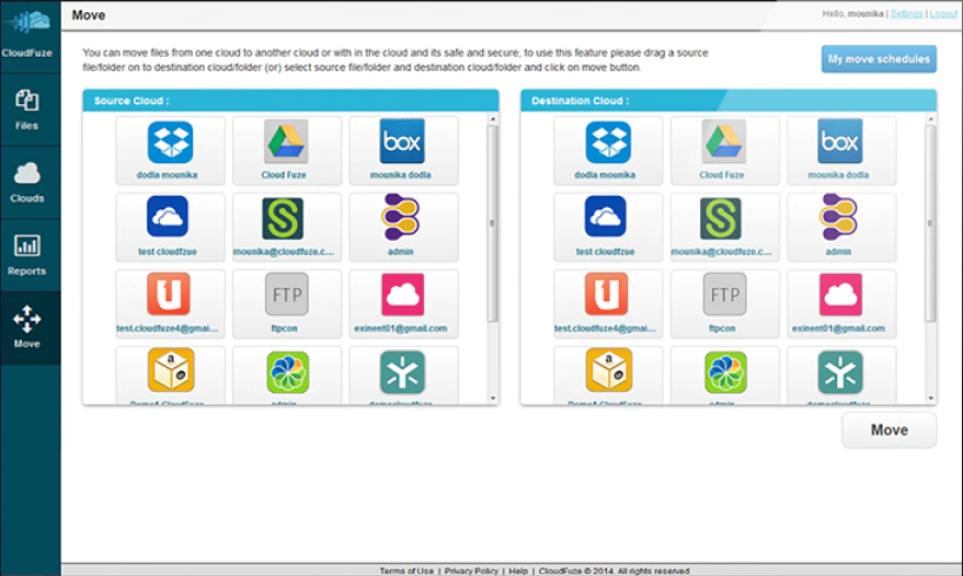CloudFuze file locations
