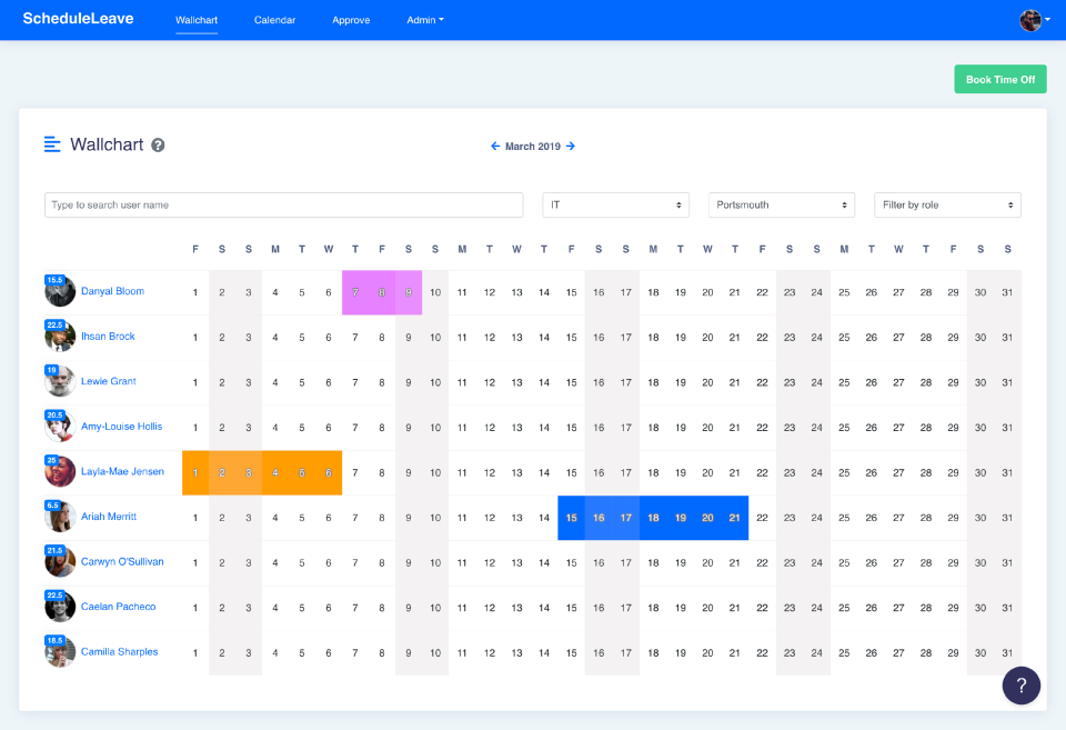 ScheduleLeave Software - 3