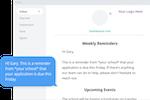 SchoolAdmin screenshot: SchoolAdmin automated communications
