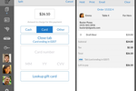Instore screenshot: Tabs can be opened with stored card details, and closed with various payment types