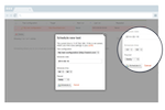 Load Impact screenshot: Test scheduling and automation