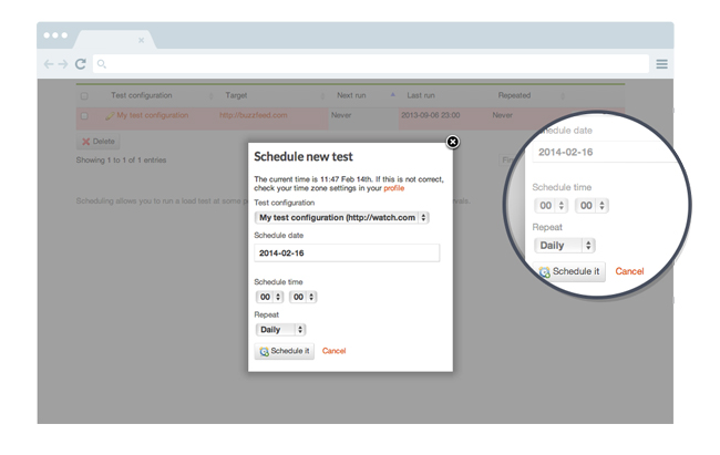 Test scheduling and automation
