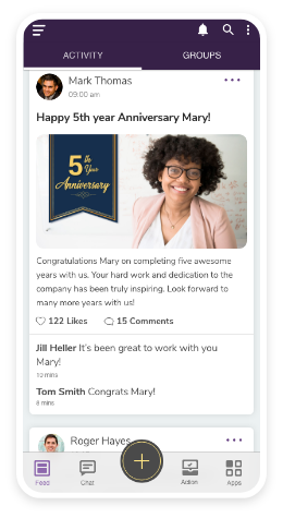 Celebrate achievements