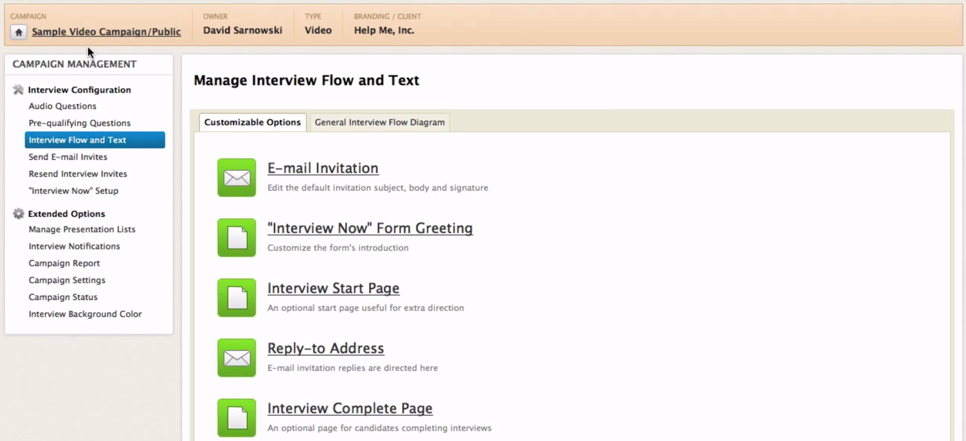 HarQen Software - Interview flow and text
