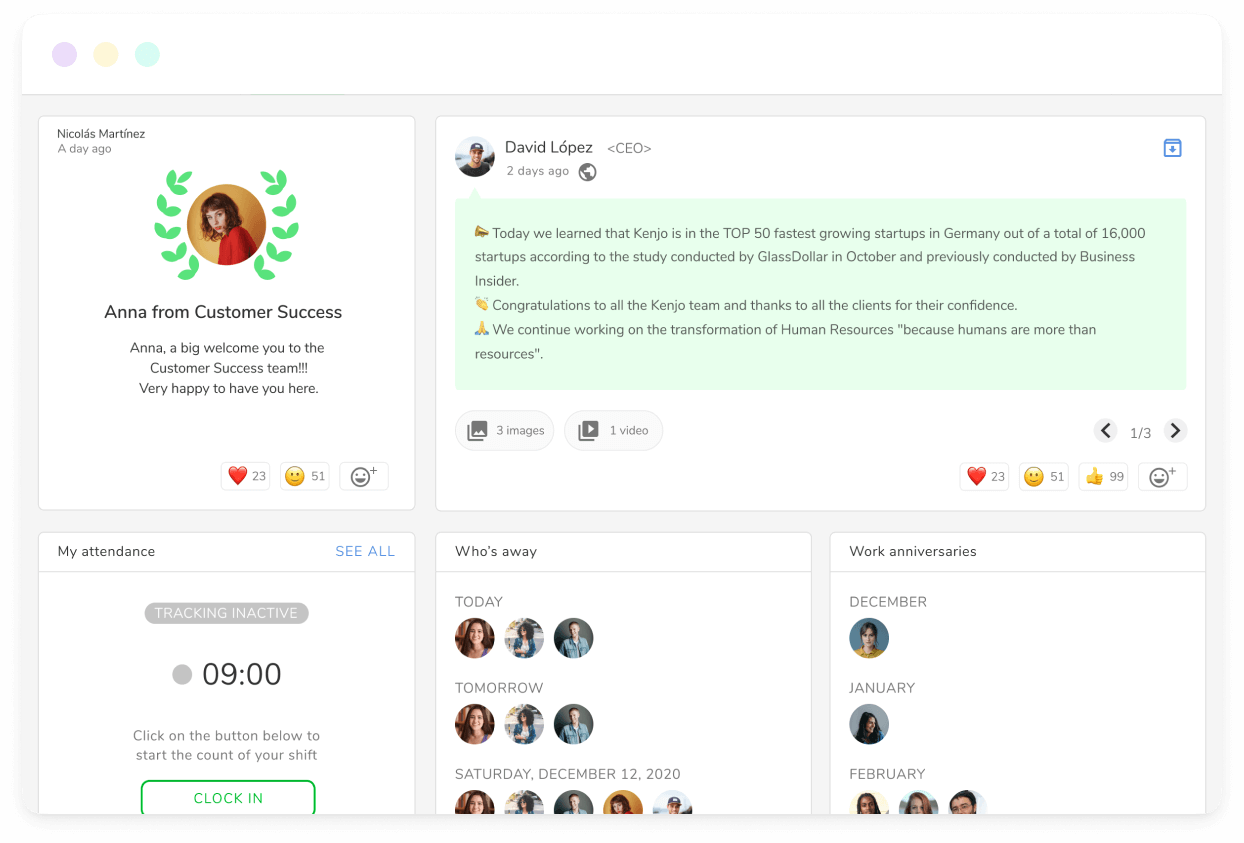 Your New Company Dashboard