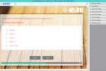 Dub InterViewer screenshot: The Nebu template stylesheet editor enables users to edit the stylesheet of responsive templates