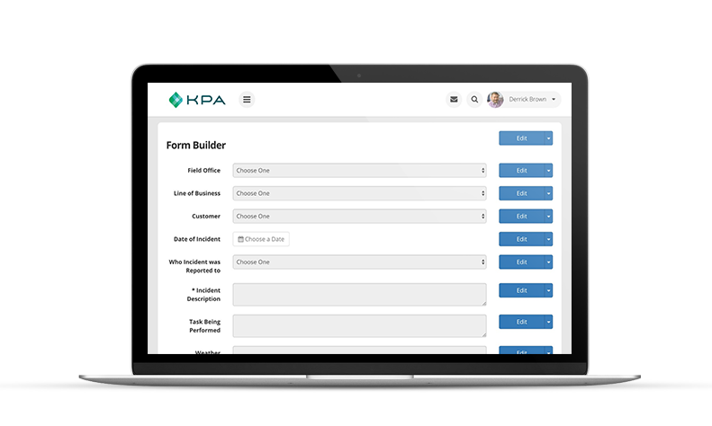 KPA EHS Form builder