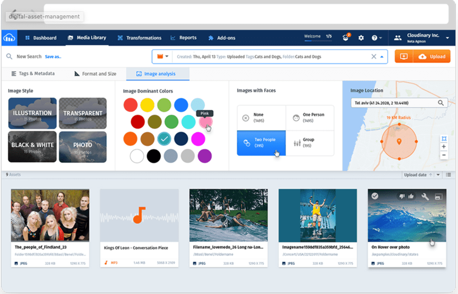 Cloudinary Software - Cloudinary Digital Asset Manager