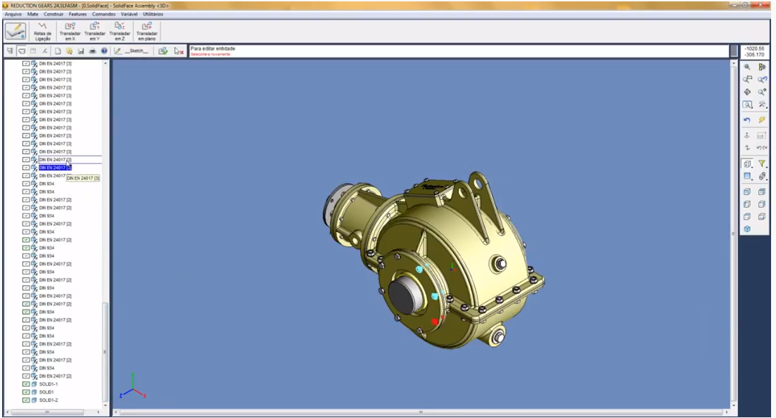 SolidFace exploded view screenshot