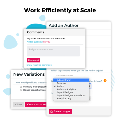 Work efficiently at scale